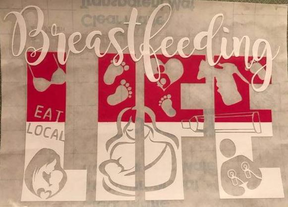 Breastfeeding Life Decal