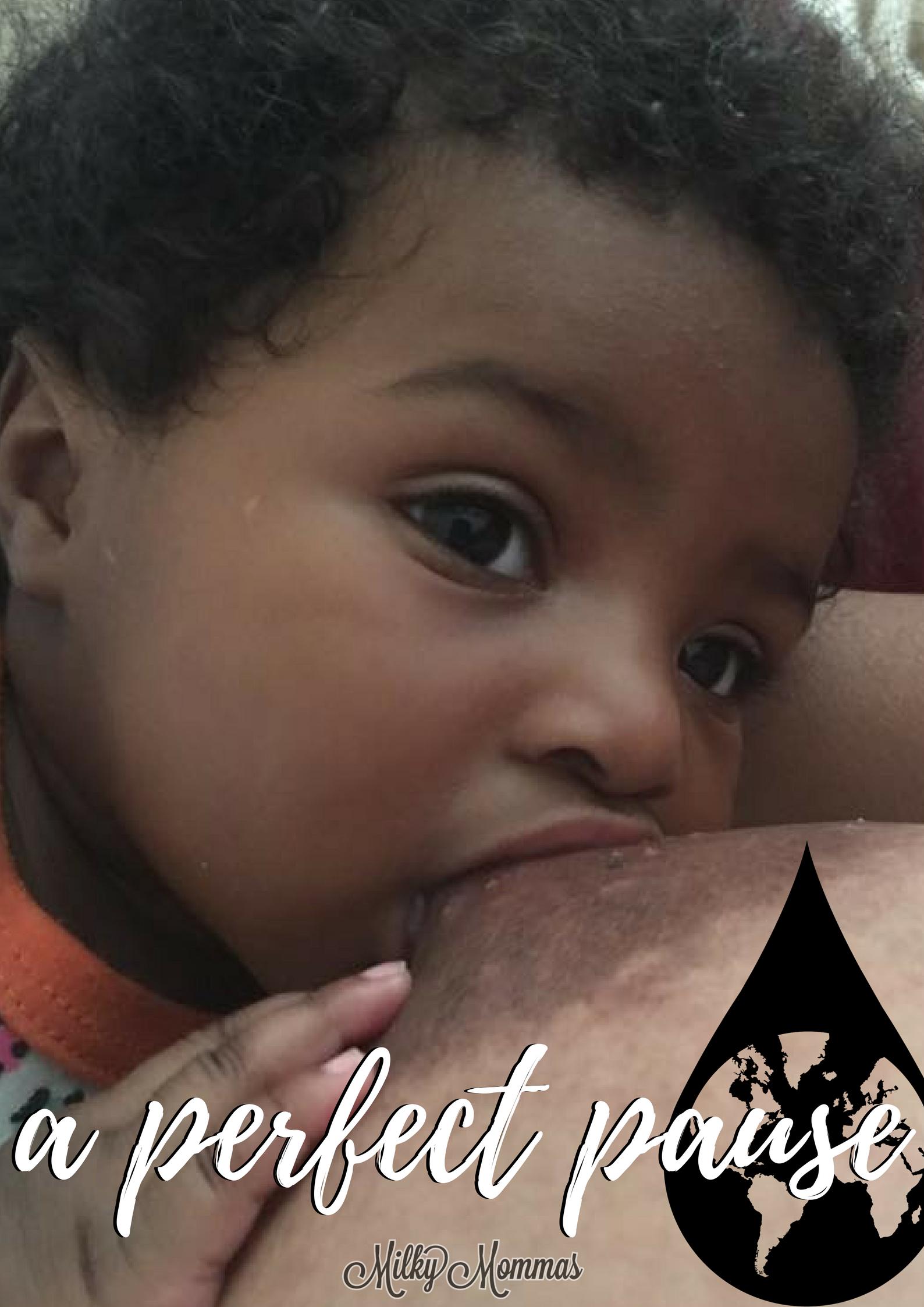 Lactating pregnant black woman
